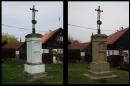 Restaurování křížku v obci Bezdědice - srovnání