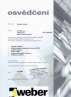 Certifikát WEBER TERRANOVA
